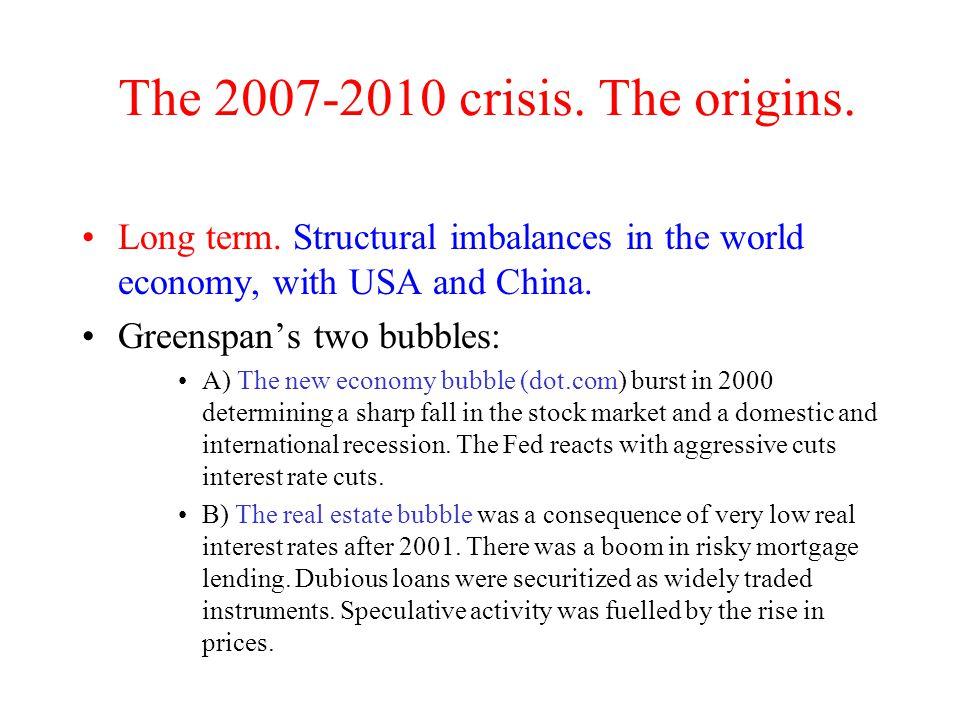 The 2007-2010 crisis. The origins.