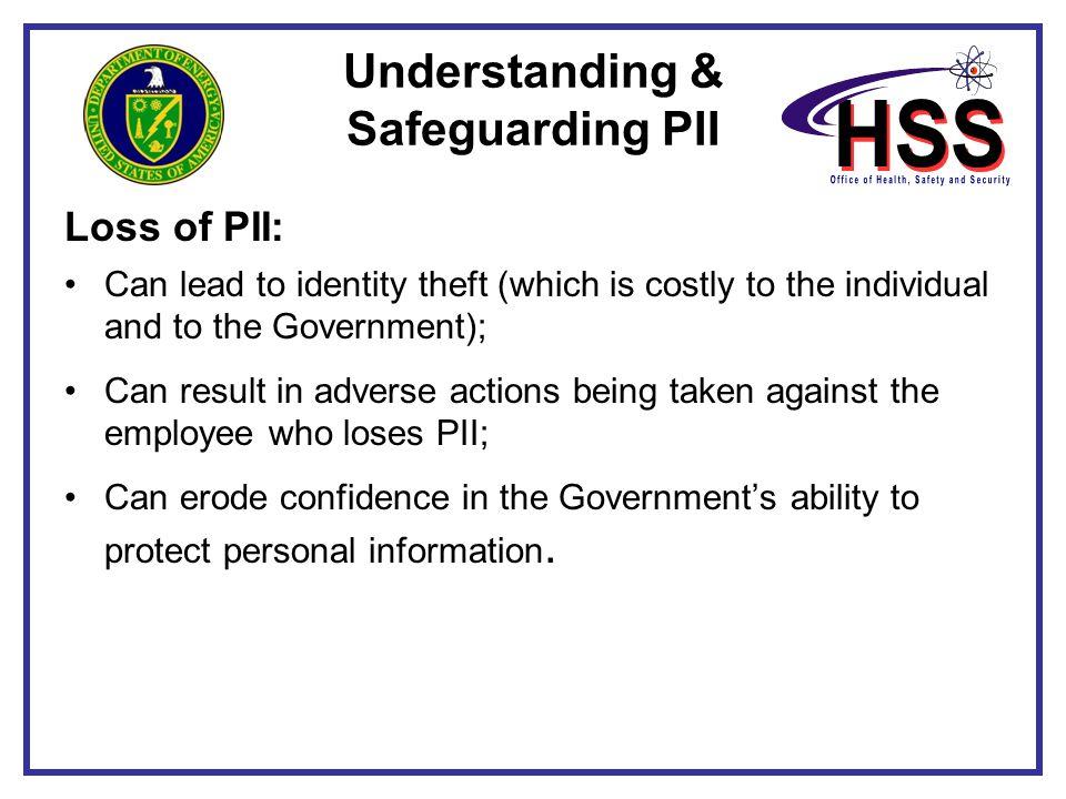 Understanding & Safeguarding PII
