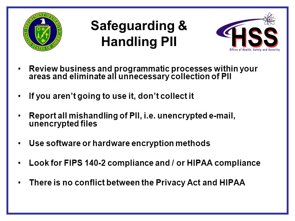 Safeguarding & Handling PII
