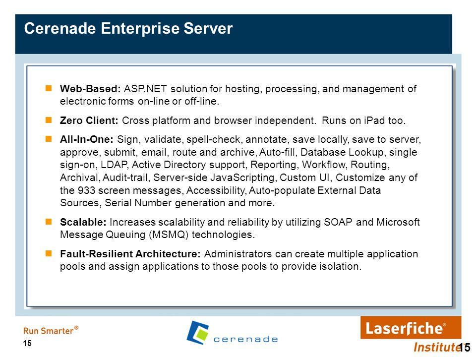 Cerenade Enterprise Server