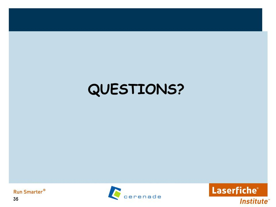 QUESTIONS Demonstration Slide