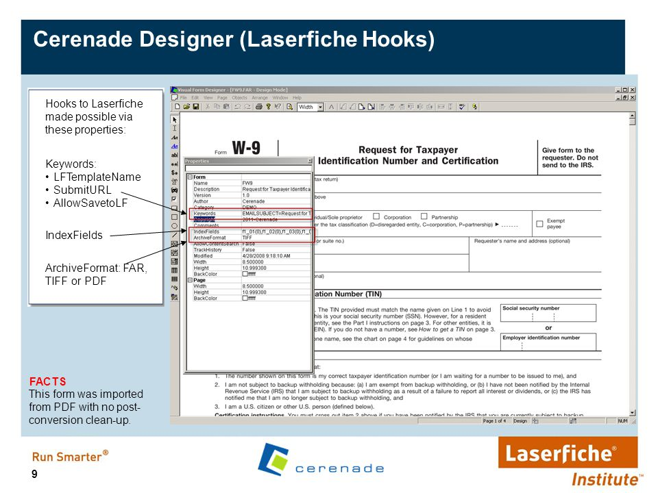 Cerenade Designer (Laserfiche Hooks)