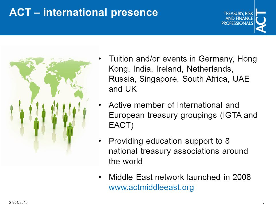 ACT – international presence