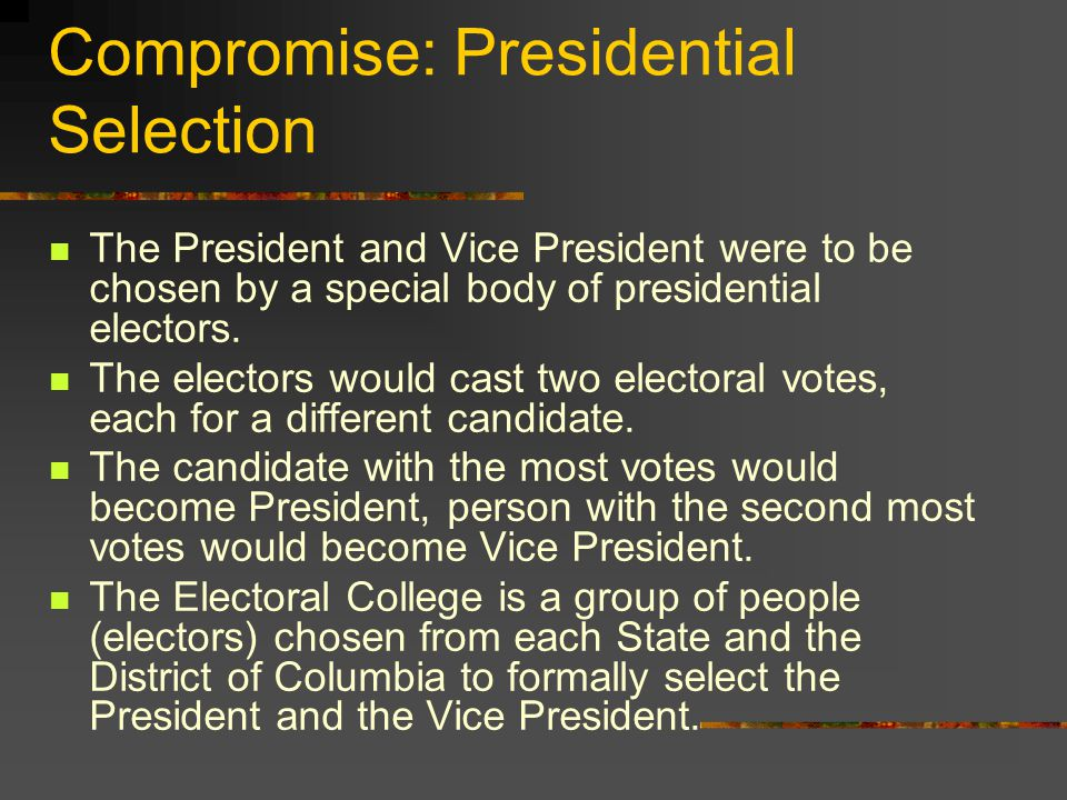 Compromise: Presidential Selection