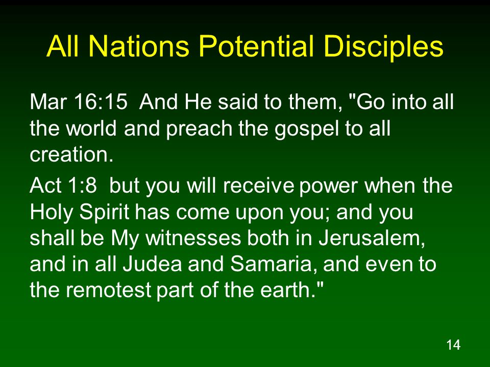 All Nations Potential Disciples