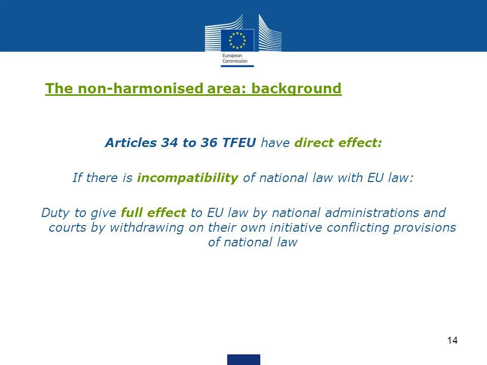 The non-harmonised area: background