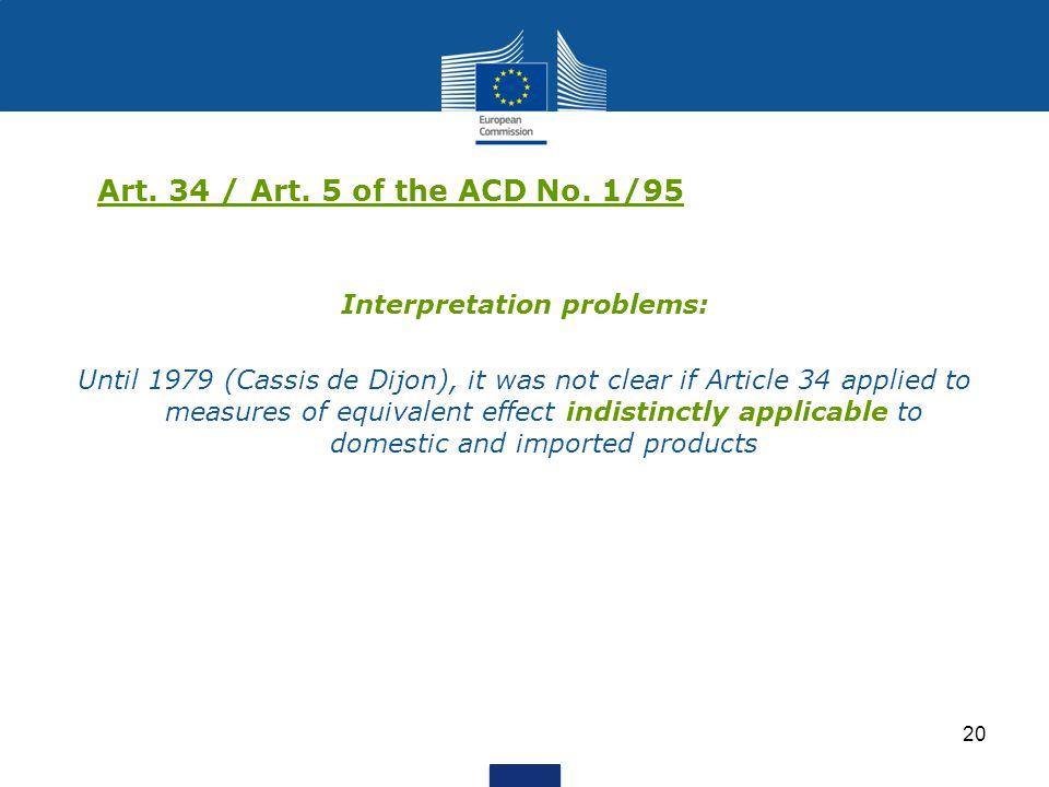 Interpretation problems: