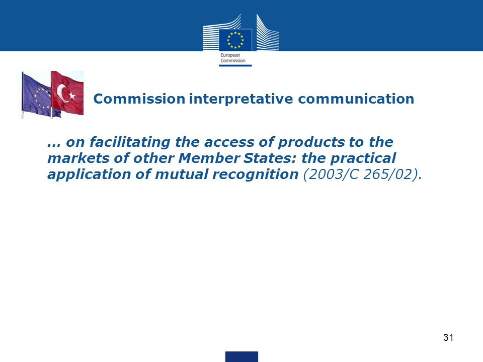 Commission interpretative communication