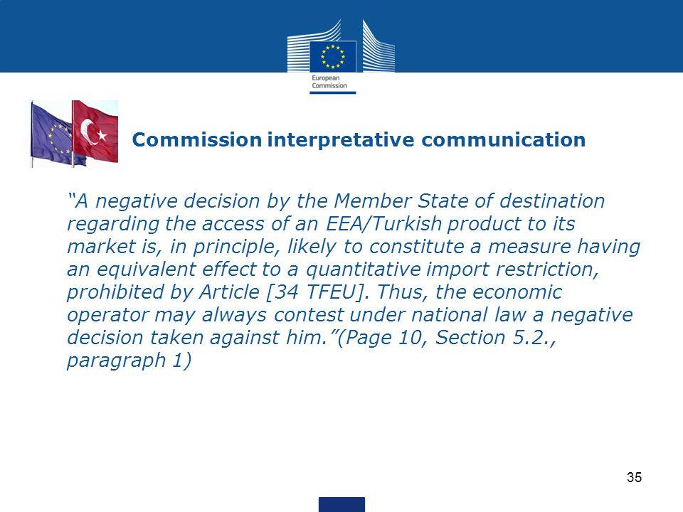 Commission interpretative communication