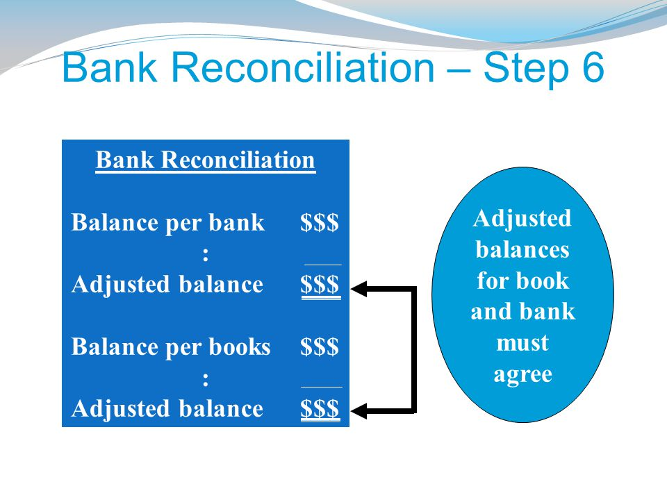 Bank Reconciliation – Step 6