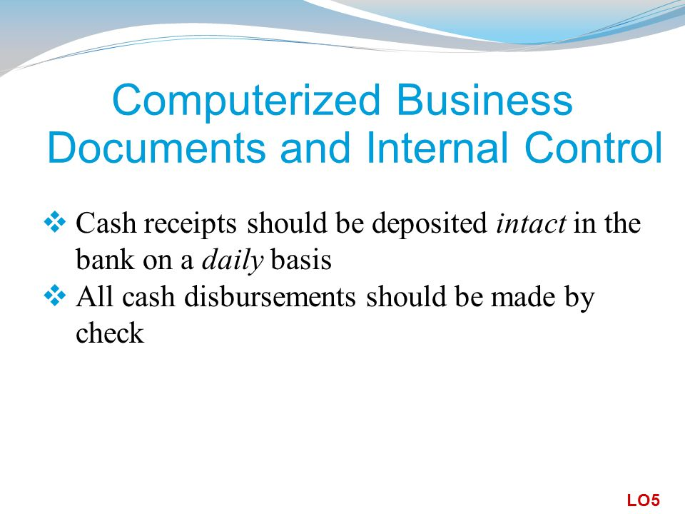Computerized Business Documents and Internal Control