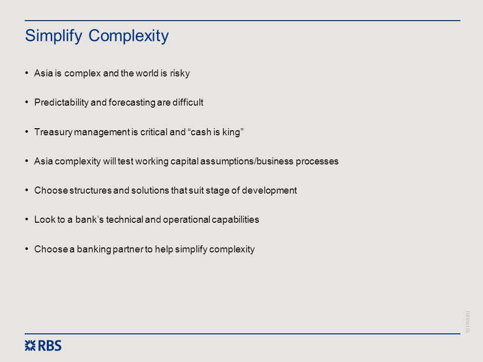 Simplify Complexity Asia is complex and the world is risky