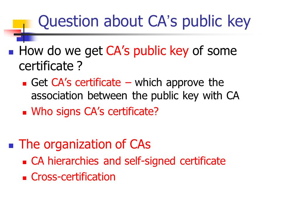 Question about CA's public key