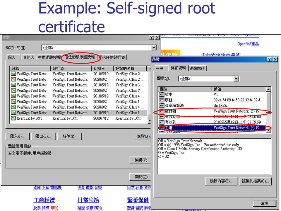 Example: Self-signed root certificate