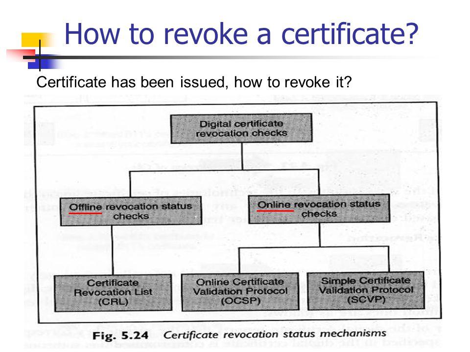 How to revoke a certificate
