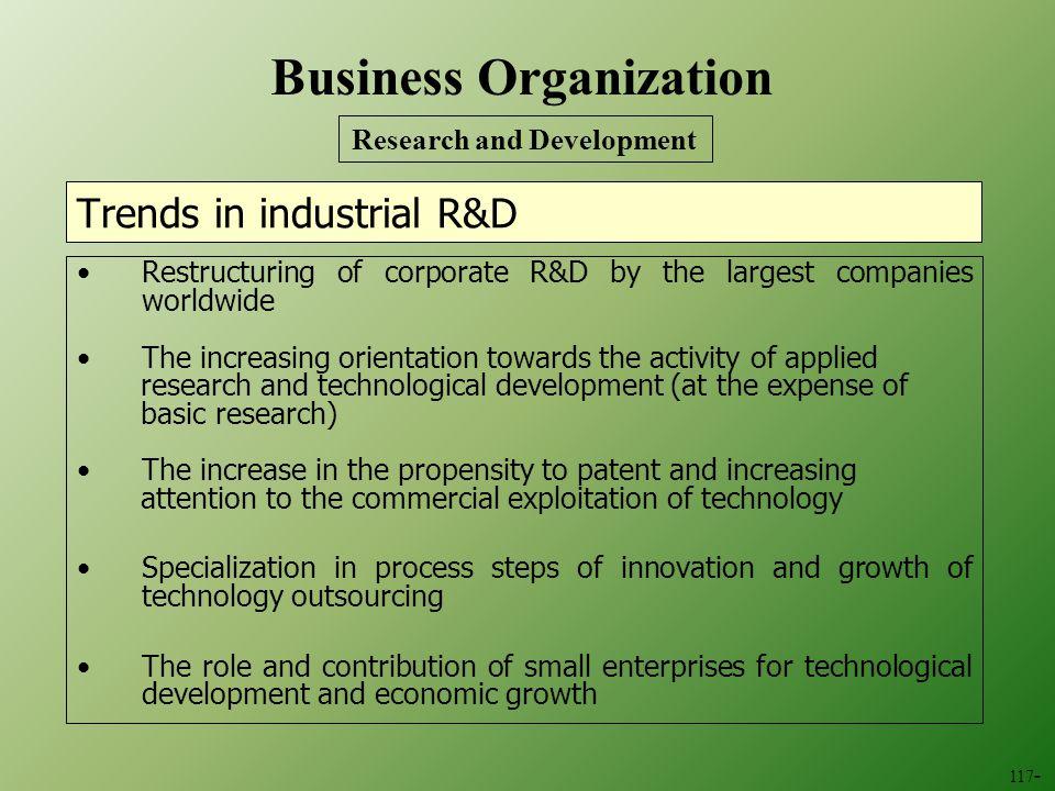 Trends in industrial R&D