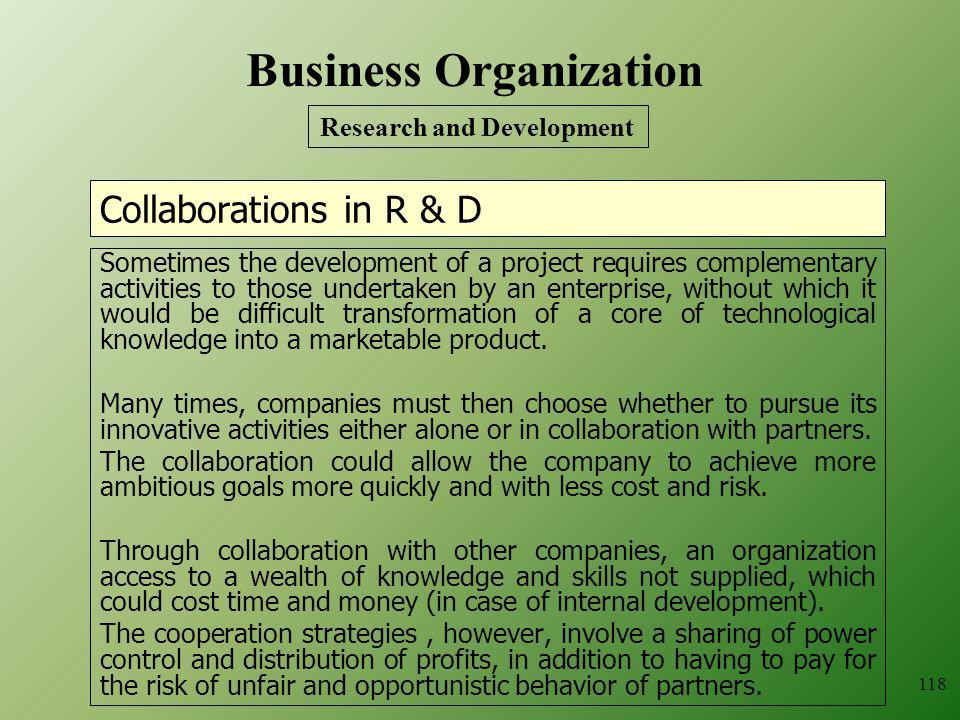 Business Organization Research and Development