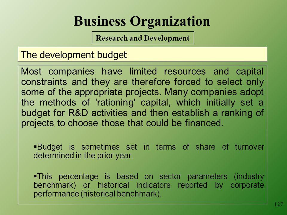 The development budget
