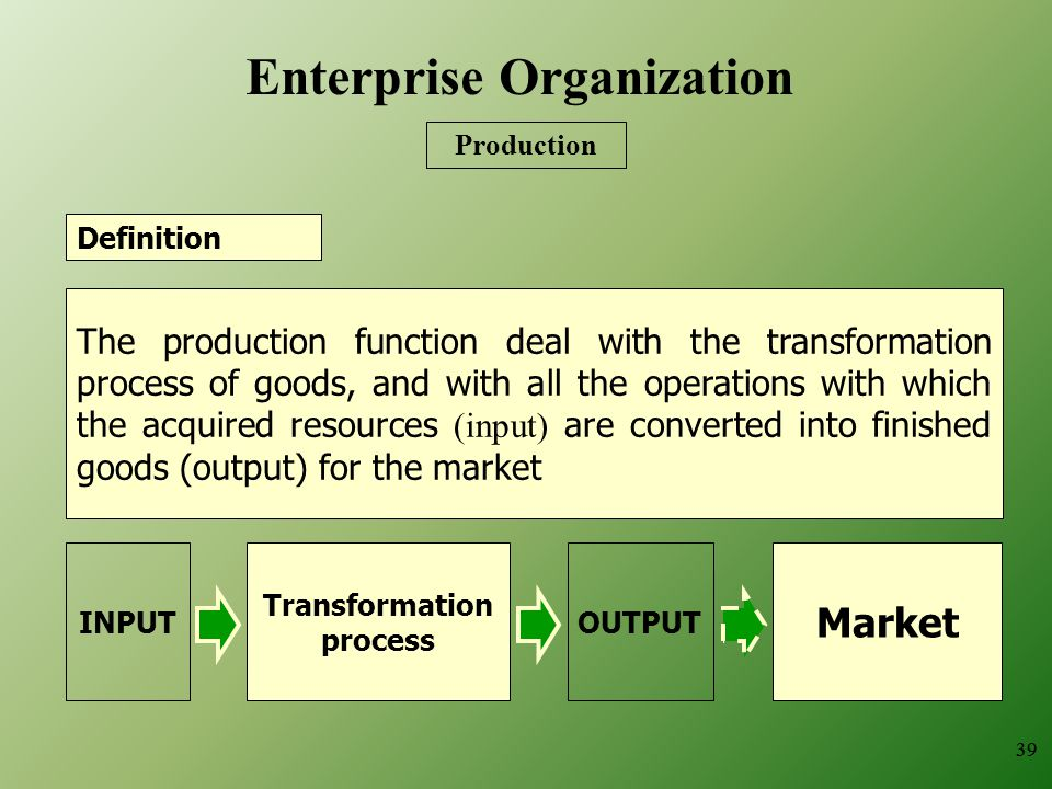 Enterprise Organization Transformation process