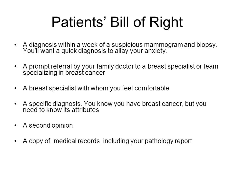Patients' Bill of Right