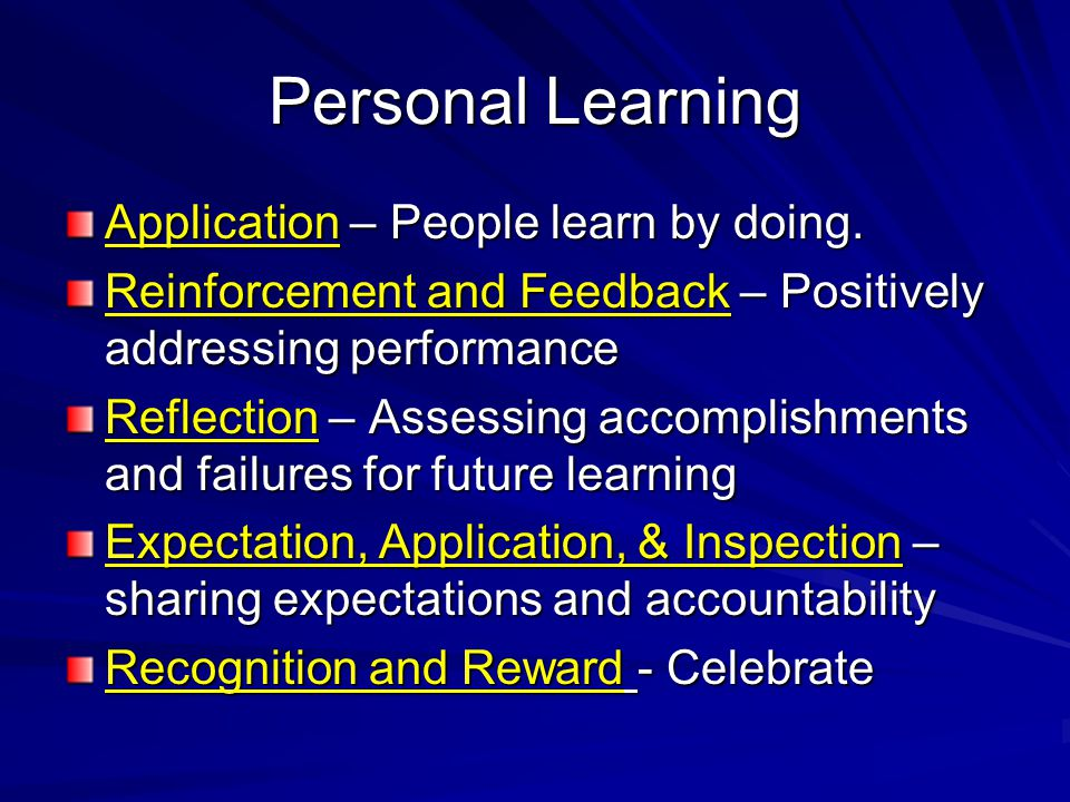 Personal Learning Application – People learn by doing.