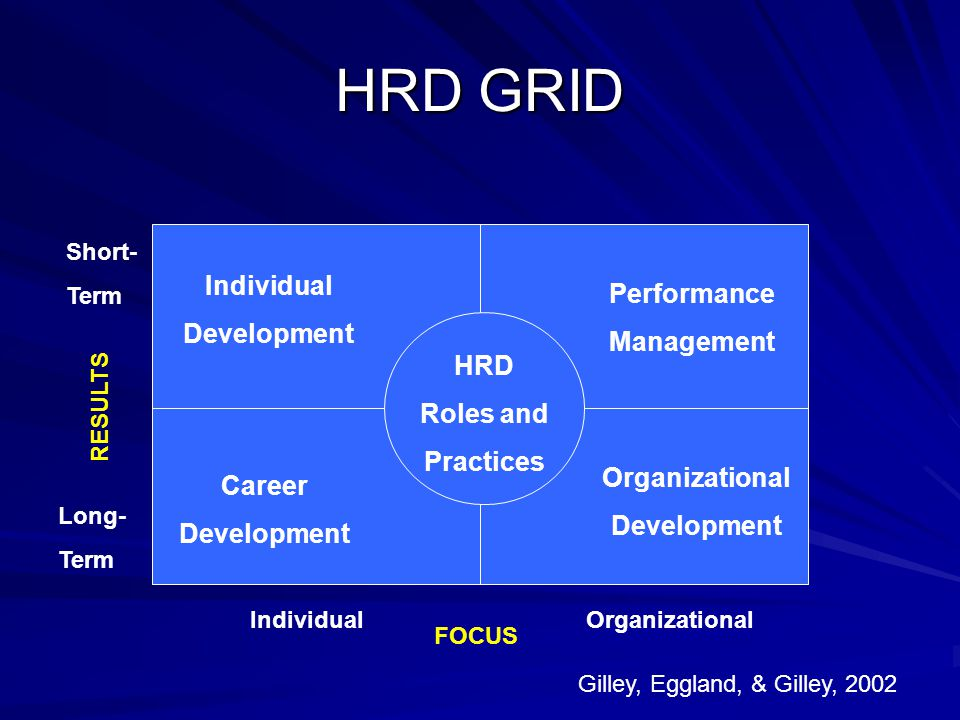 HRD GRID Individual Performance Development Management HRD Roles and