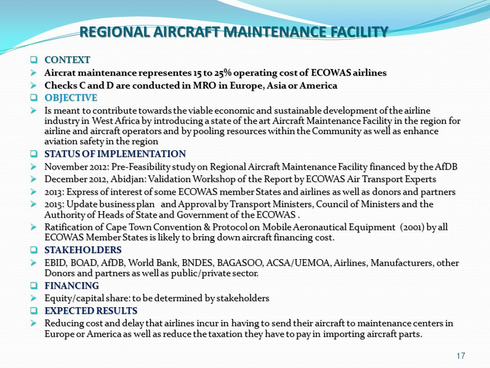 REGIONAL AIRCRAFT MAINTENANCE FACILITY