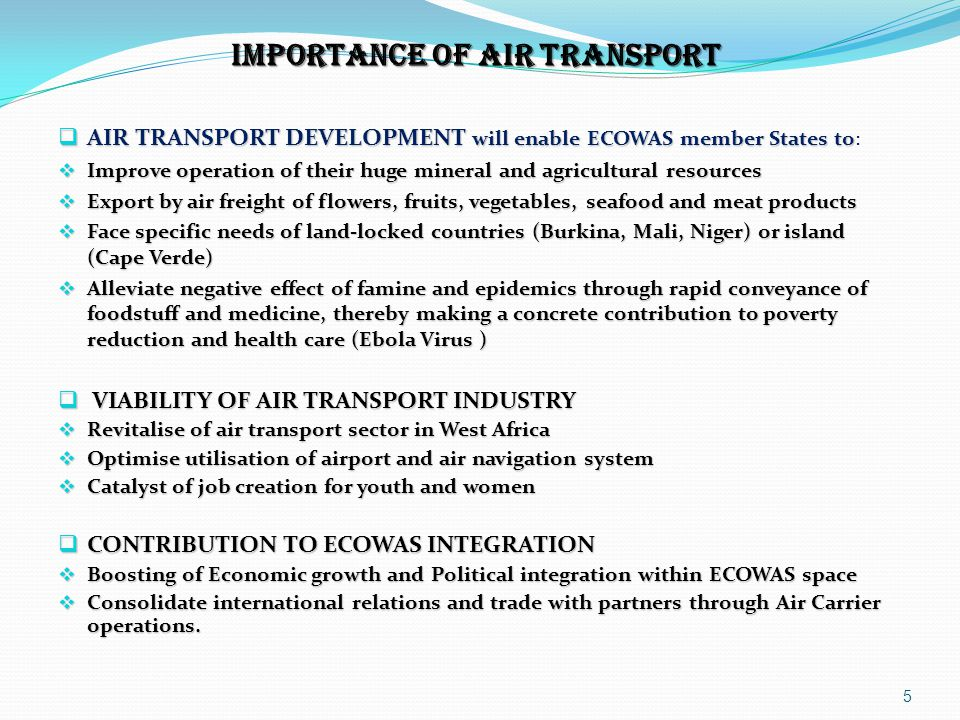 IMPORTANCE OF AIR TRANSPORT