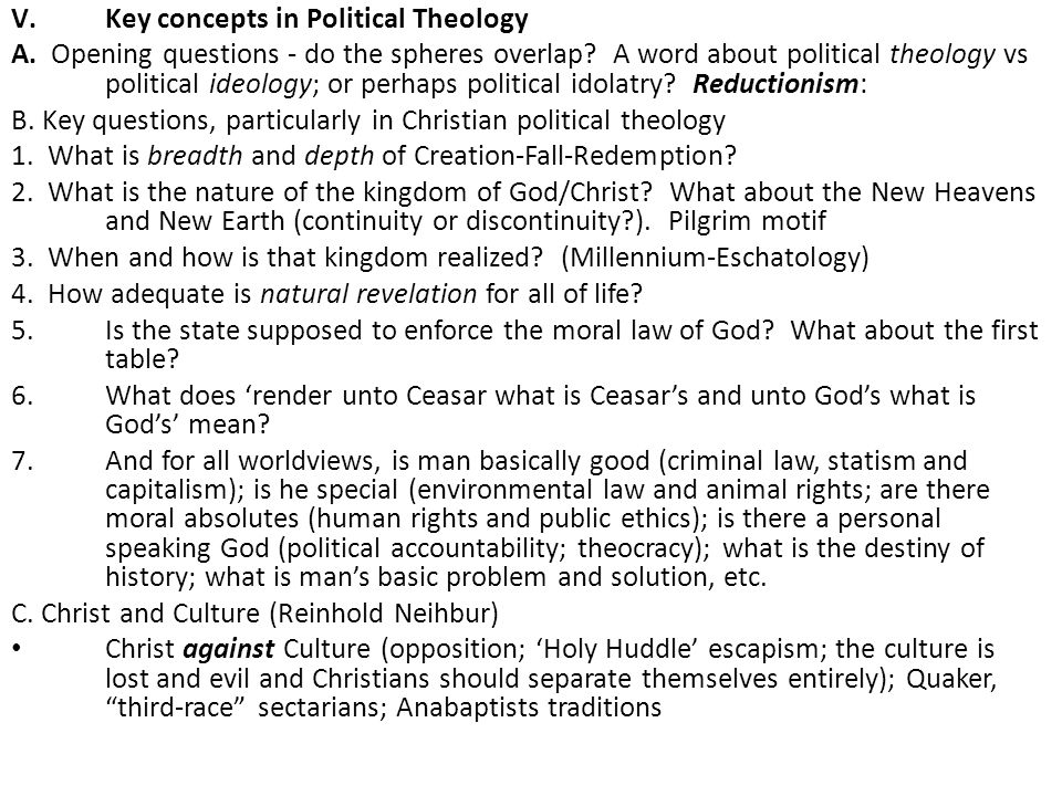 Key concepts in Political Theology