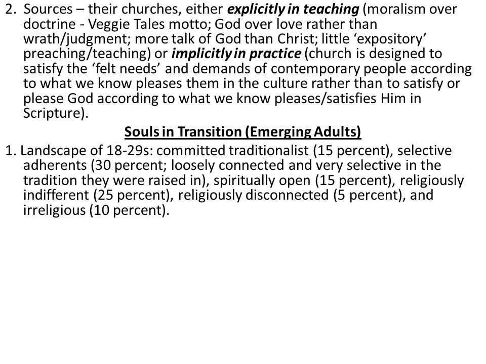 Souls in Transition (Emerging Adults)