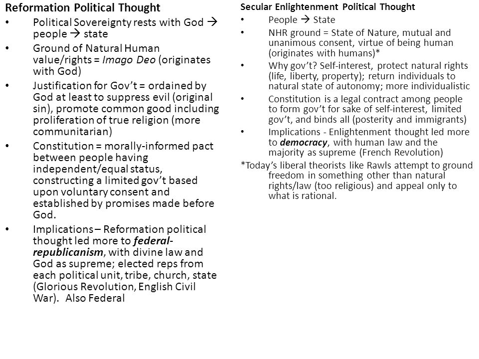 Reformation Political Thought