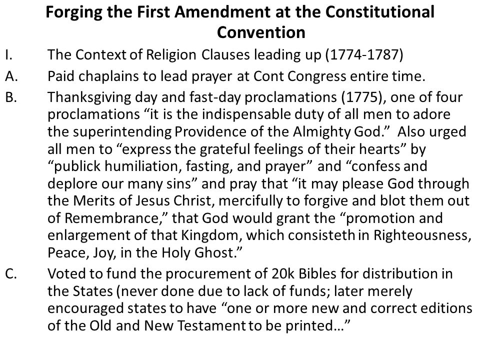 Forging the First Amendment at the Constitutional Convention