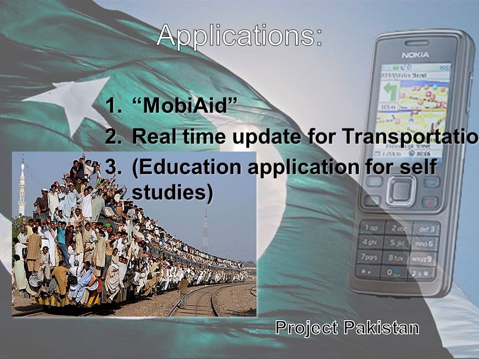 Applications: MobiAid Real time update for Transportation