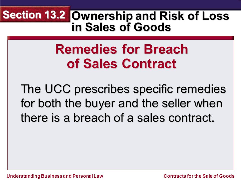Remedies for Breach of Sales Contract