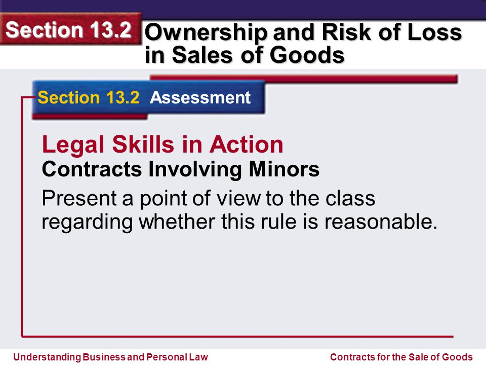 Legal Skills in Action Contracts Involving Minors