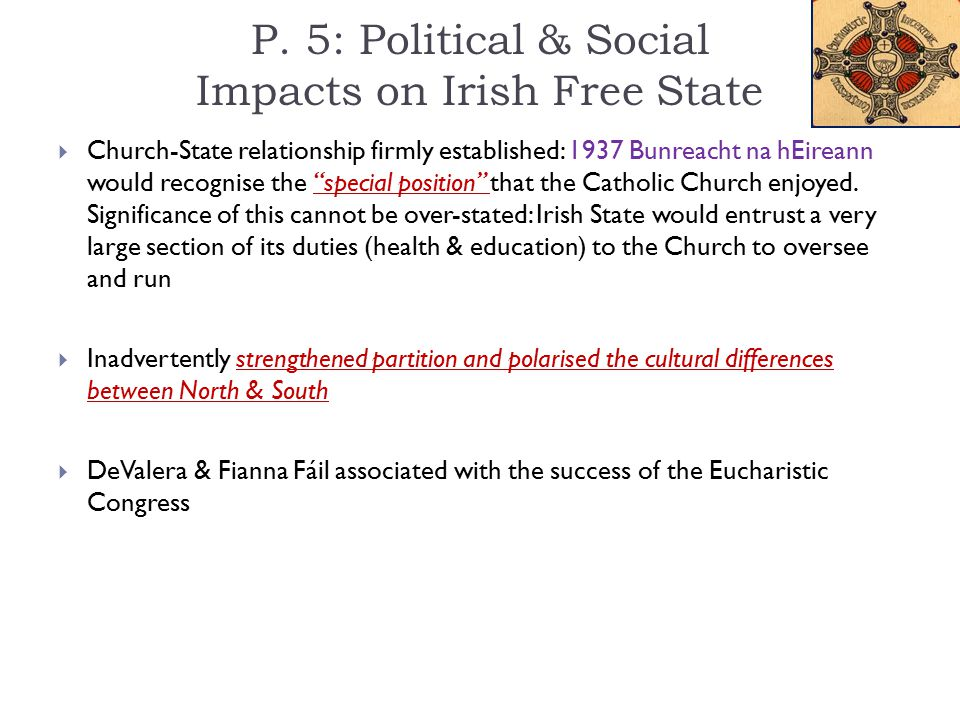 P. 5: Political & Social Impacts on Irish Free State