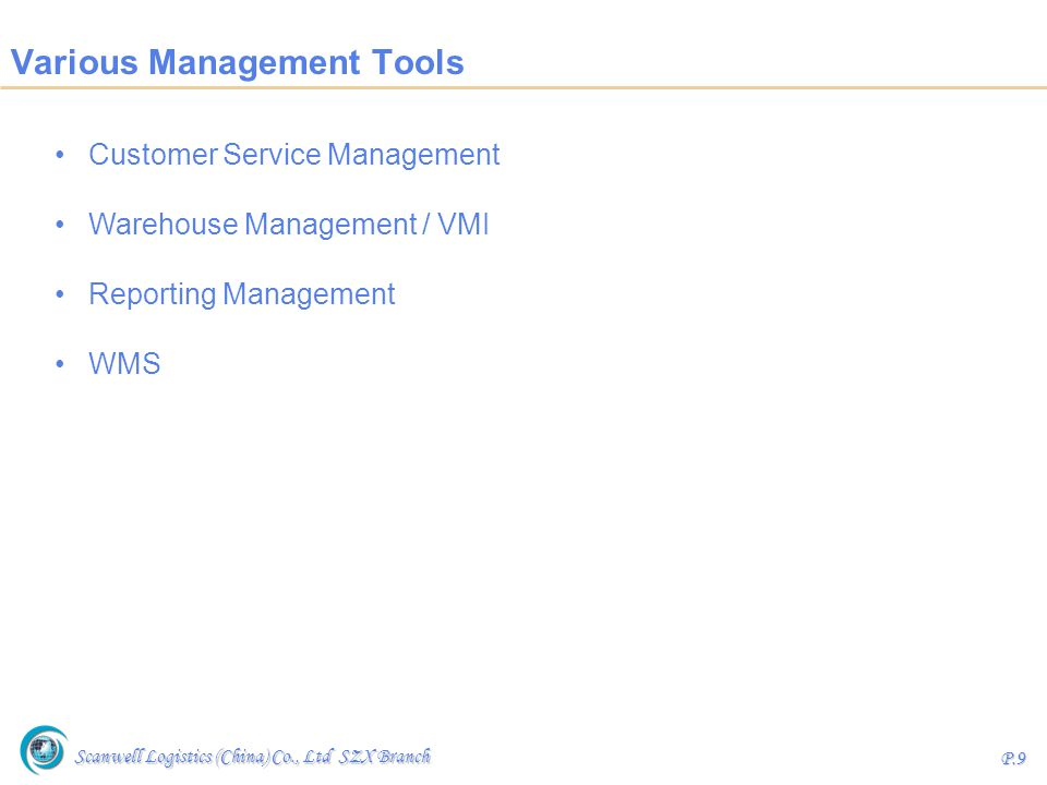 Various Management Tools