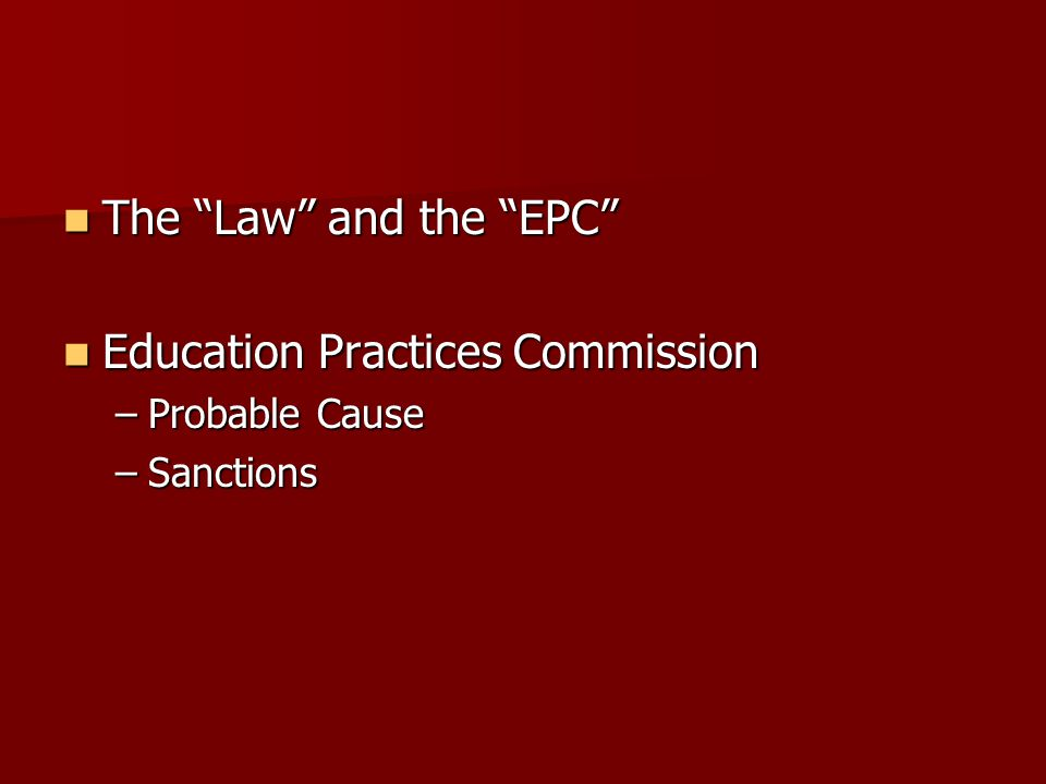 Education Practices Commission
