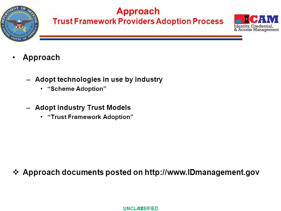 Trust Framework Provider Adoption Process