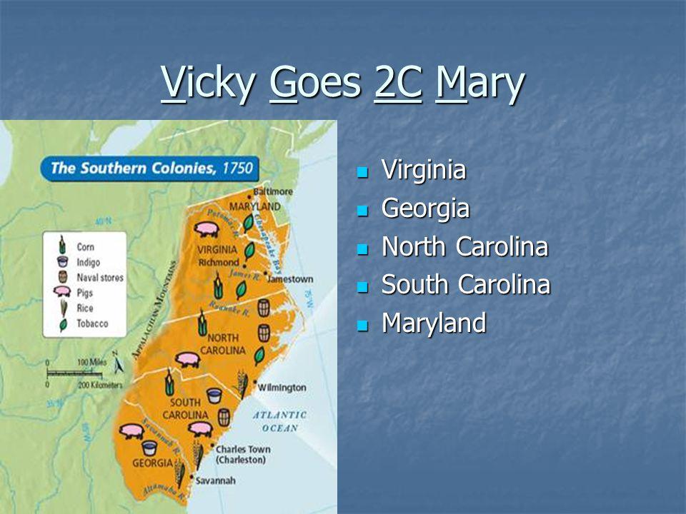 Vicky Goes 2C Mary Virginia Georgia North Carolina South Carolina