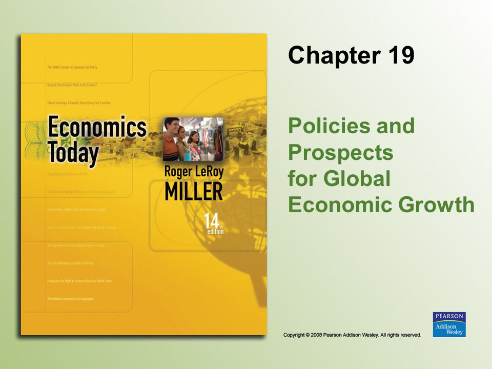 Policies and Prospects for Global Economic Growth
