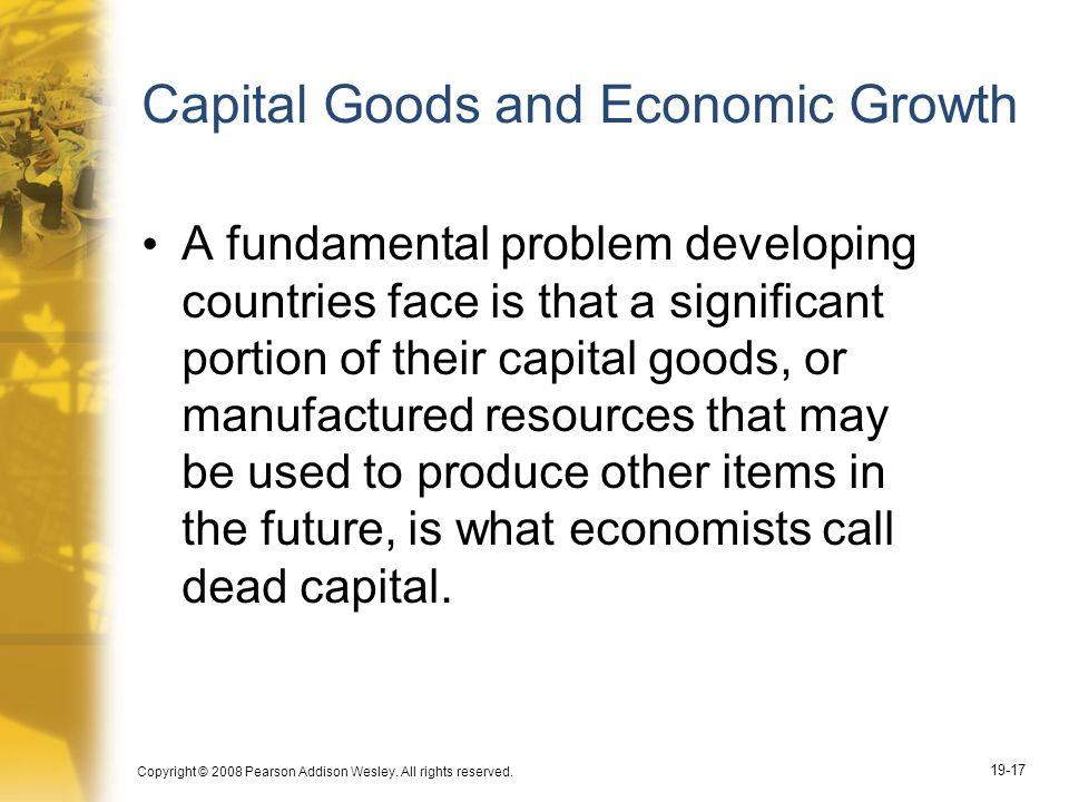 Capital Goods and Economic Growth