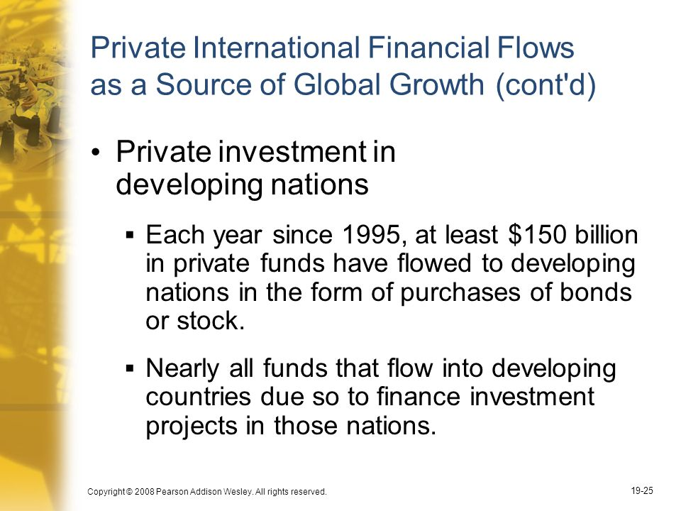 Private investment in developing nations