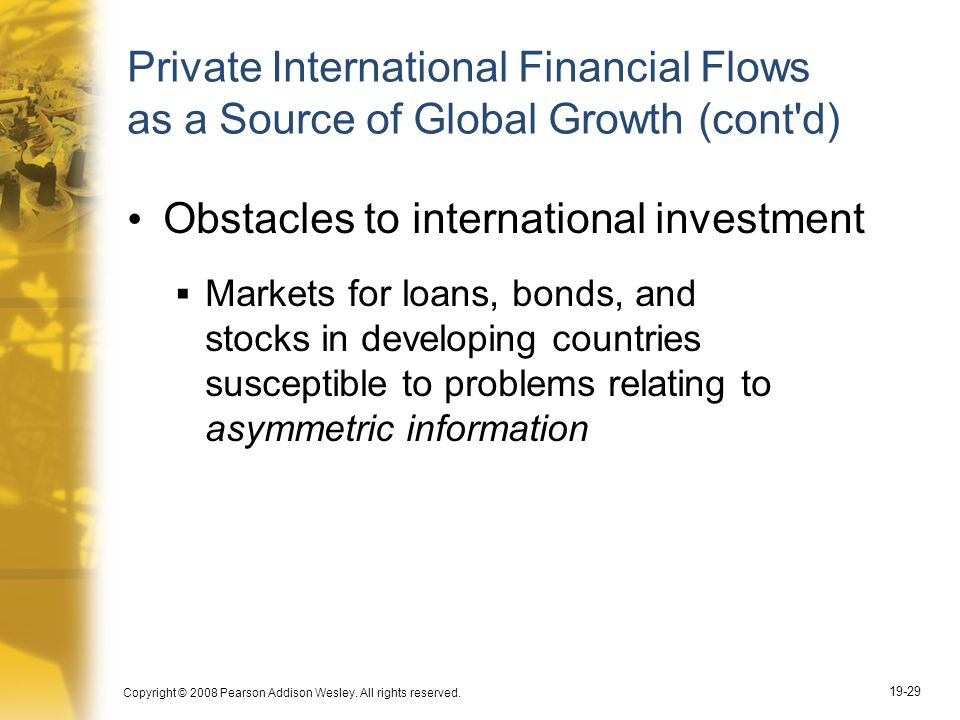 Obstacles to international investment
