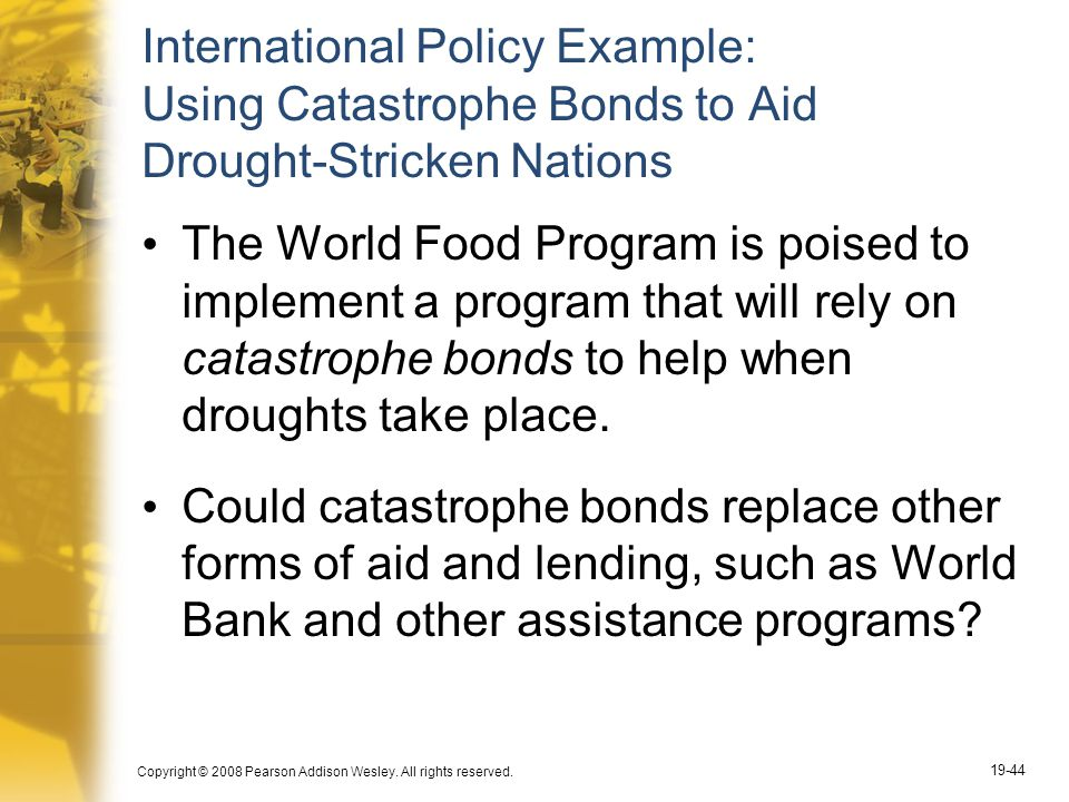 International Policy Example: Using Catastrophe Bonds to Aid Drought-Stricken Nations