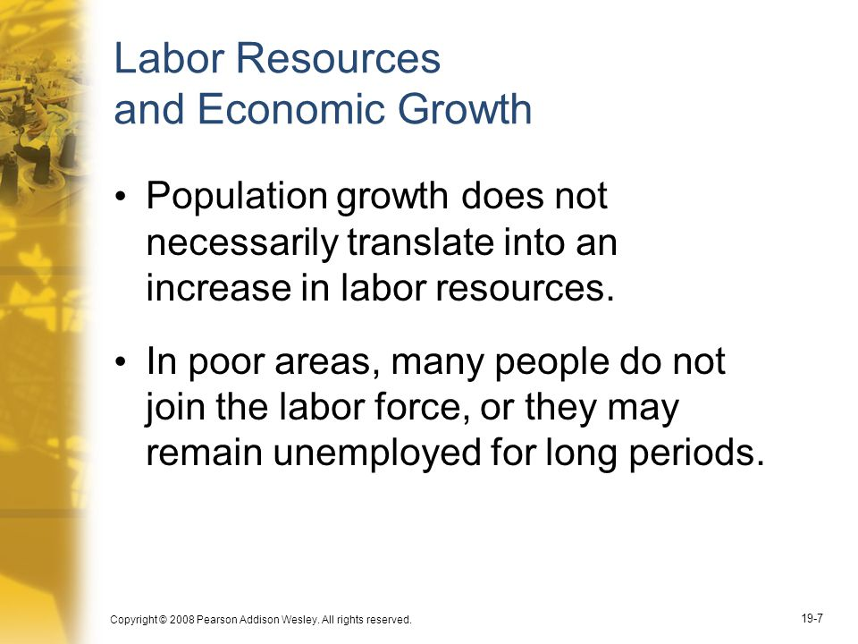 Labor Resources and Economic Growth