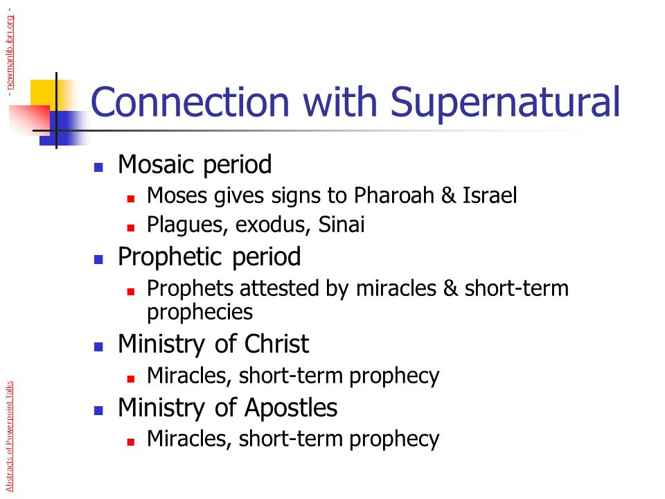 Connection with Supernatural