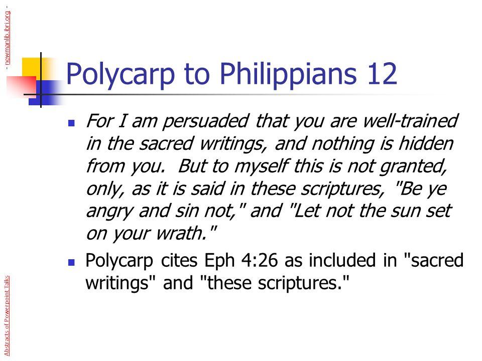 Polycarp to Philippians 12