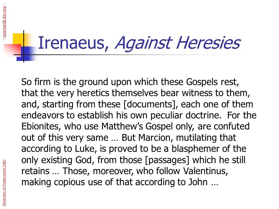 Irenaeus, Against Heresies