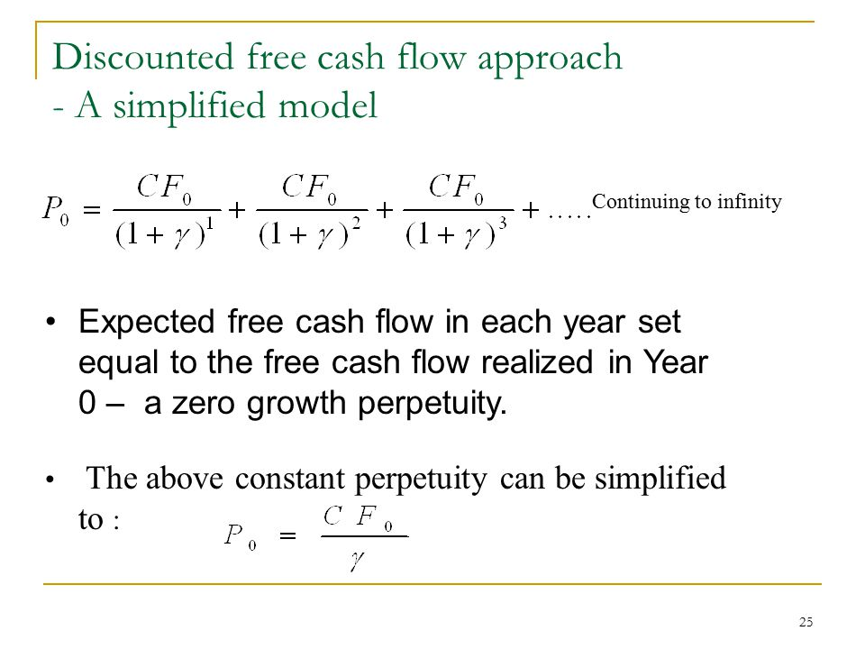 Discounted free cash flow approach - A simplified model